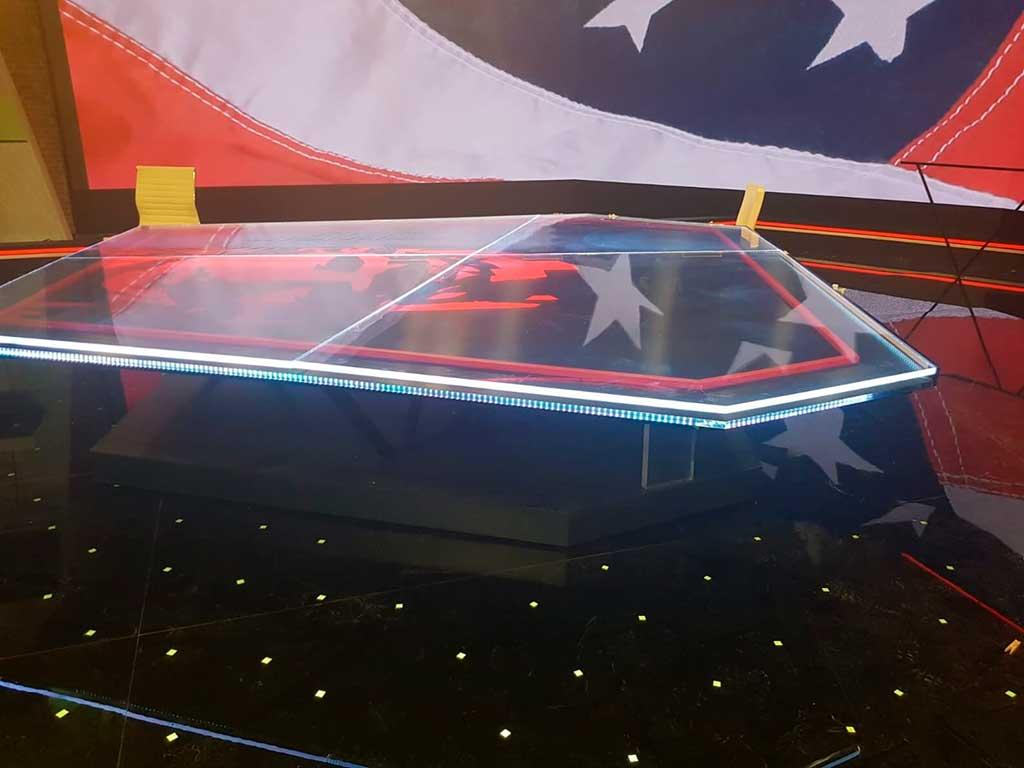 Iluminación del borde exterior de la nueva mesa
